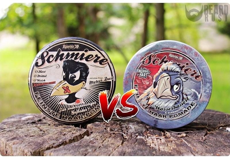 Rumble59/Schmiere Knüppelhart (Rock-Hard) OB vs. WB – recenzja porównawcza pomad do włosów