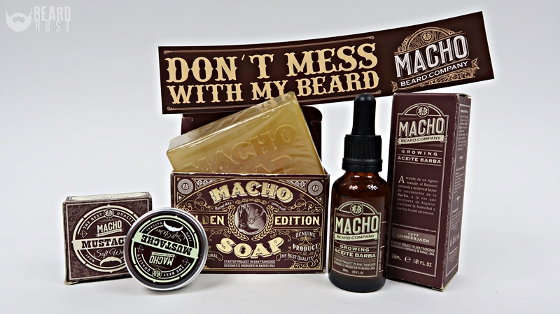 Macho Beard Company (1977 Lumberjack Beard Oil + Macho Soap + Moustache Soft Wax) – recenzja