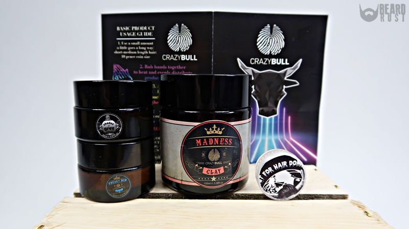 Crazy Bull Hair Products – recenzja pomad do włosów
