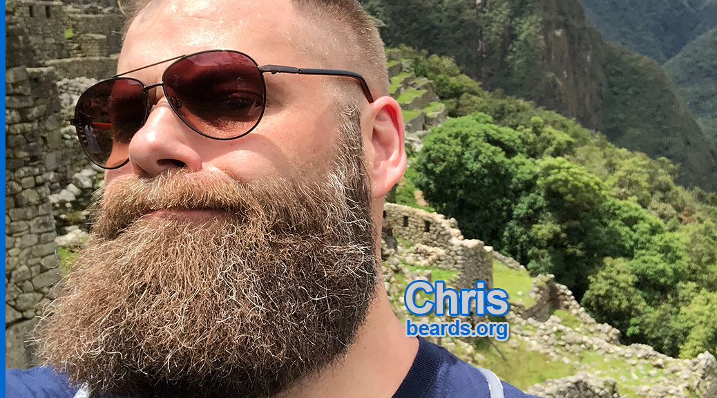 Chris' beard is still fierce and is growing stronger.