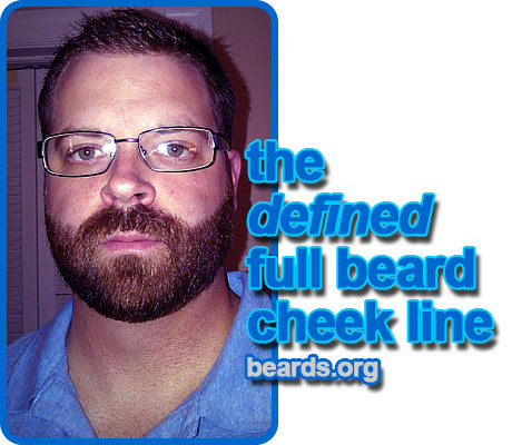 full beard with defined cheek line