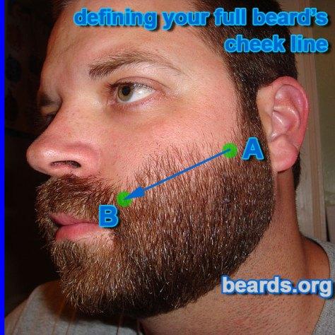 defining your full beard cheek line, step 2