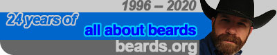 banner image: twenty-four years all about beards