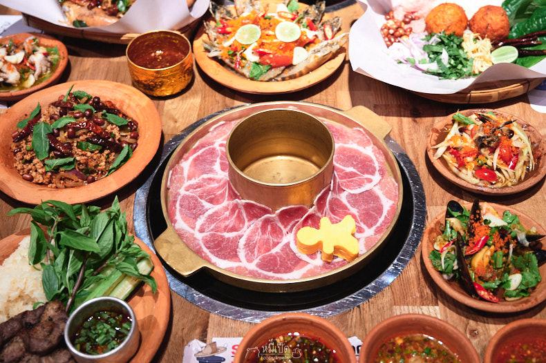 รีวิว E-Sarn Evaime ร้านอาหารอีสาน บุฟเฟต์ชาบู 299+ ถูกและดี Iconsiam