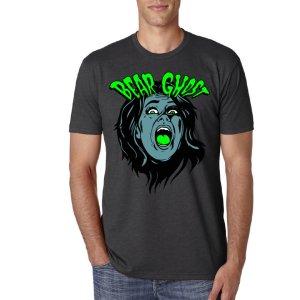 Bear Ghost Scream T-Shirt - Charcoal