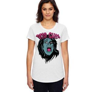 Bear Ghost Scream Womens T - White