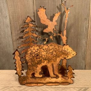 Rusted Wildlife Sconce