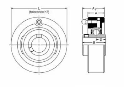 MSC 75, 'Premium' Cartridge Bearing Unit with a 75mm bore