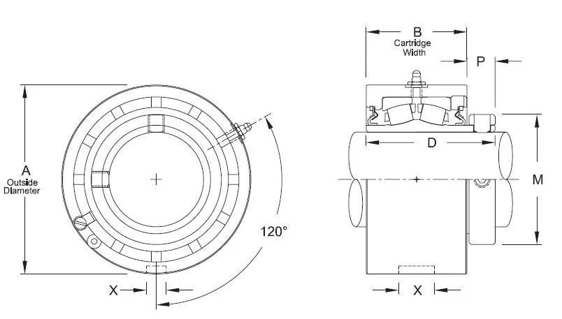 ZMC 2215, Linkbelt-Rexnord Spherical Roller Cartridge Unit