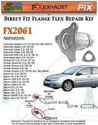 FX2061 Semi Direct Fit Exhaust Flange Repair Flex Pipe ...