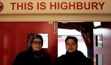 2012_22 - Jocke och jag i spelargången på Highbury Stadium, Fleetwood.