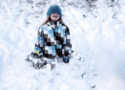 Första snön i december