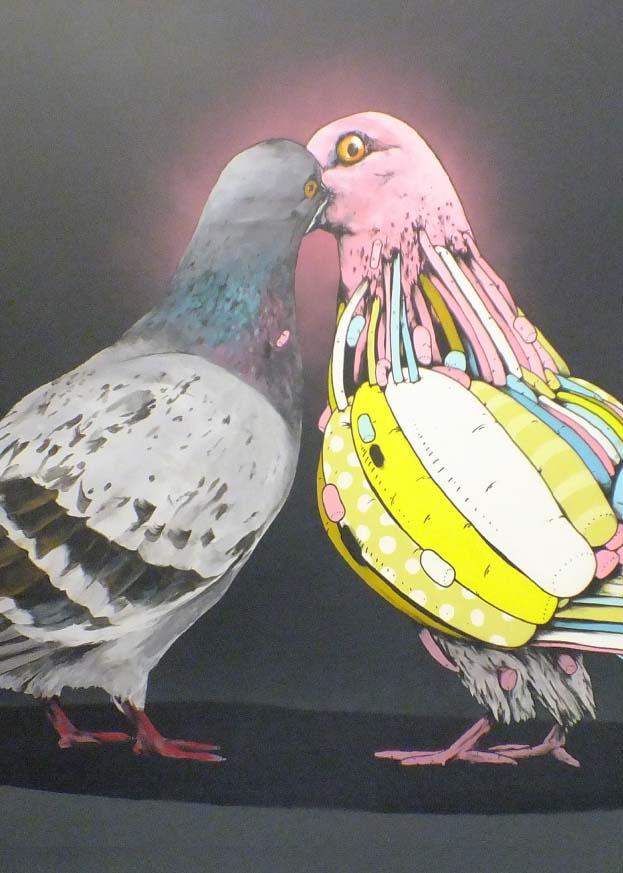 Gris One et Térez, Pigeons, 2014