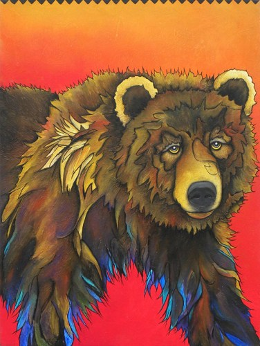Fire Sky Grizzly by Micqaela Jones