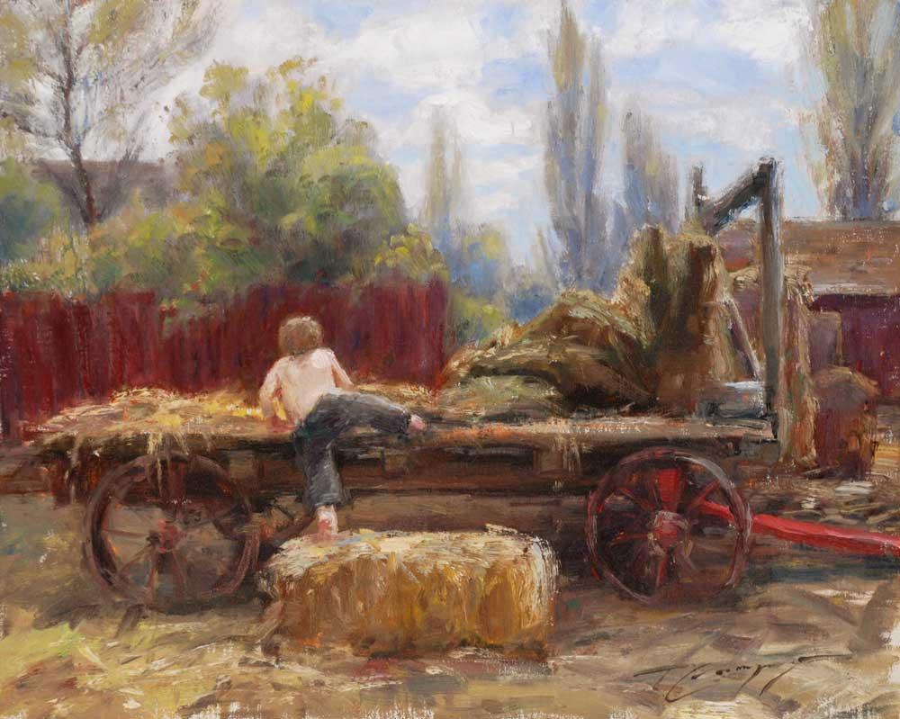 Hay Wagon by Trent Gudmundsen