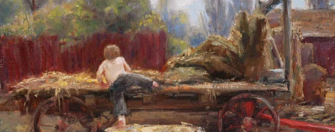 Hay Wagon by Trent Gudmudsen