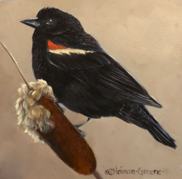Red Winged Blackbird by Carol Green Heiman
