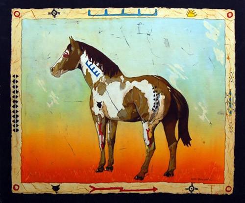 Hunter Horse (saamit ponokaomitaa) by Echo Ukrainetz