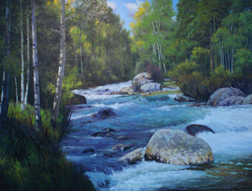 Lake Fork White Water by Jerry Inman