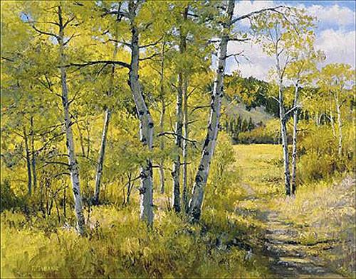 Nichols Creek Aspens by Jerry Inman