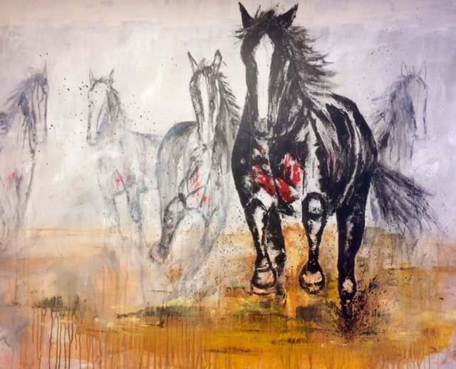 "GHOST RIDERS BREAKOUT RYAN BROWN ACRYLIC 48"" X  60"""