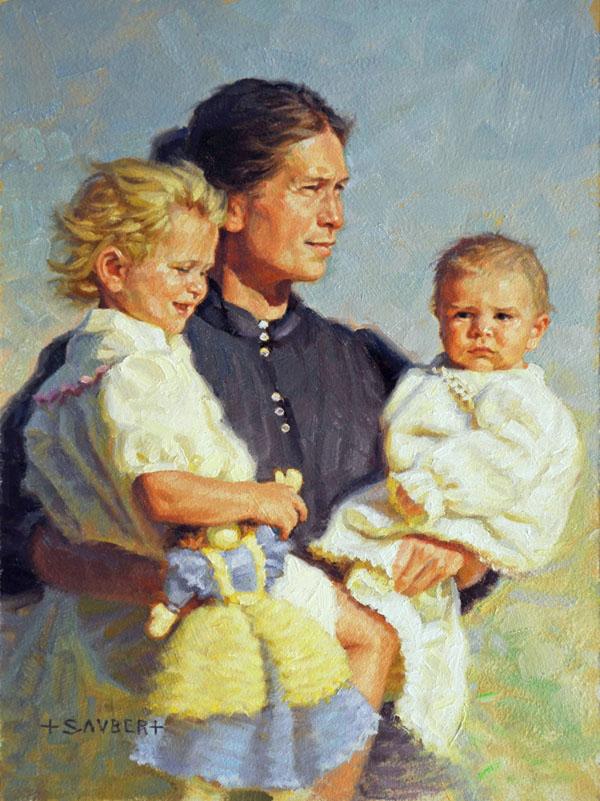 Tom Saubert original art Homestead Born