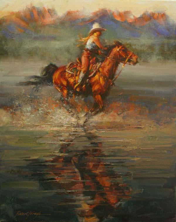 Shallow Water Ride by Robert Krogle