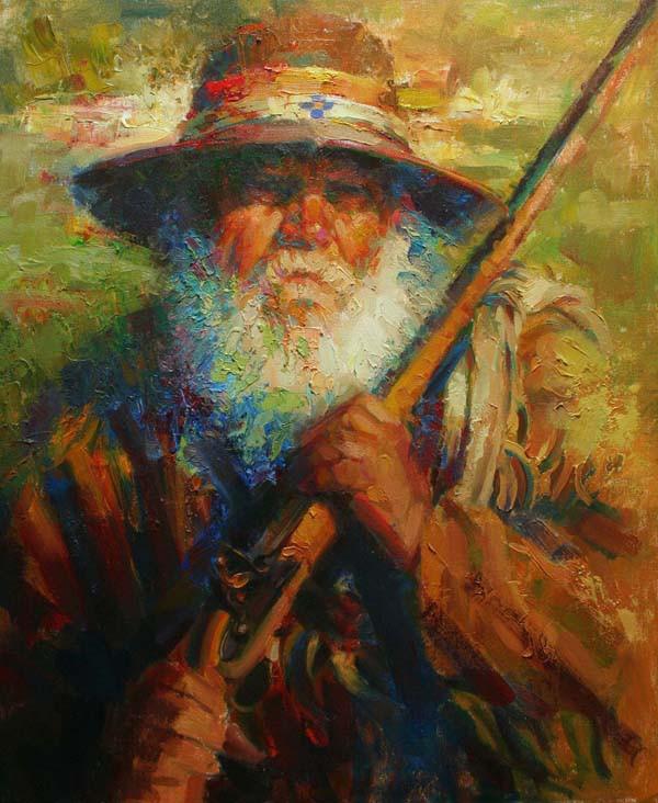 Steely Eyes of the Hunter by Robert Krogle