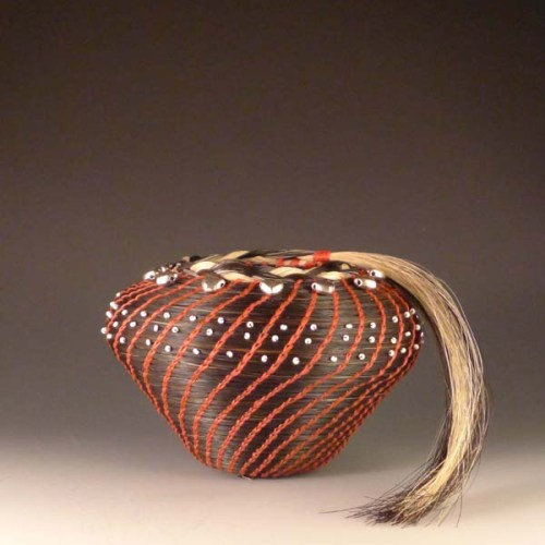 Horsehair basket by Jane Chavez