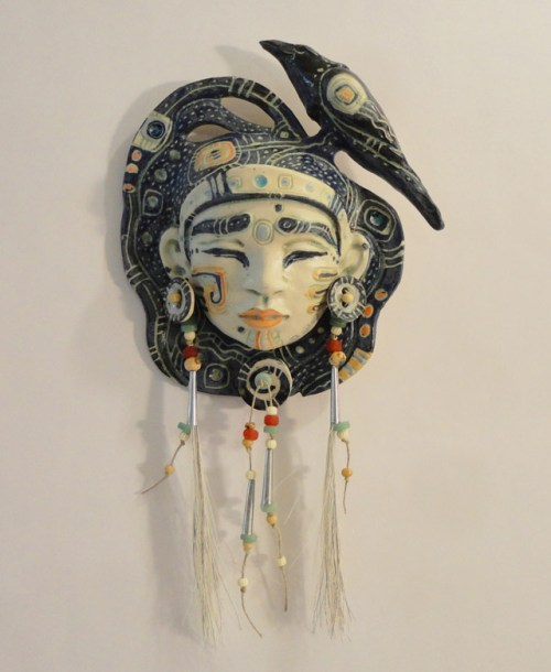 Woman with Raven by Christine McKay