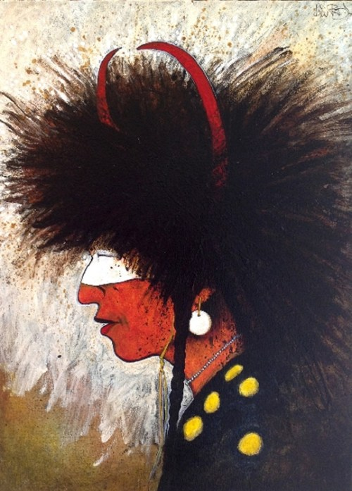 Bison Headdress by Kevin Red Star