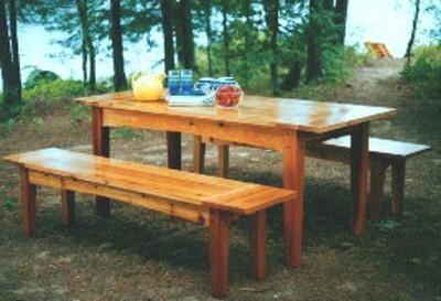 outdoor table design plan