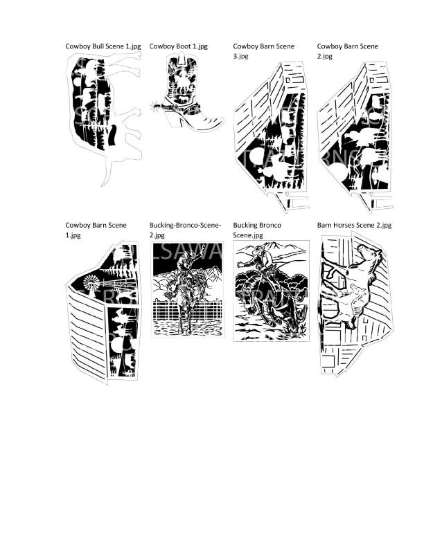 Cowboy Patterns Package- 37- Scroll Saw Cowboy Patterns