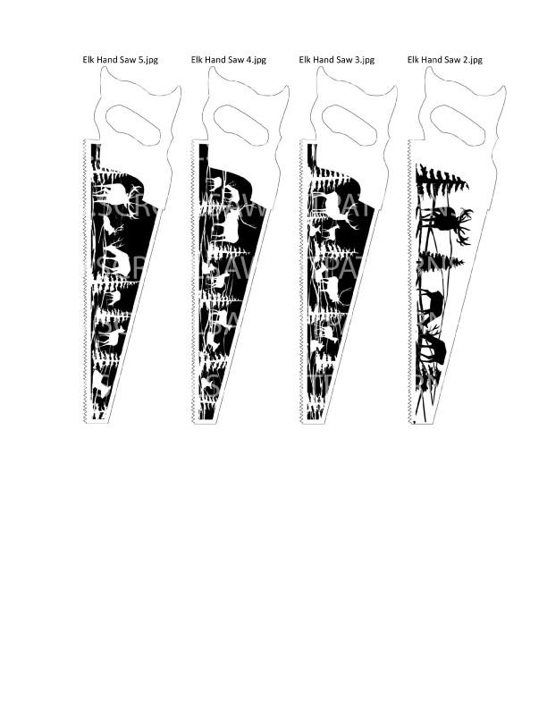Elk Patterns Package- 39- Scroll Saw Elk Patterns