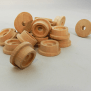 Wooden Train Wheels 1 3 16 By 1 2 With 5 16 Hole
