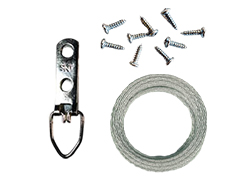 Wire Hanging Kit for 5 Pictures (up to 25 LBS)