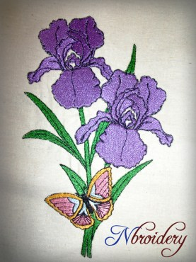 Embroidered-Iris-&-butterfly1