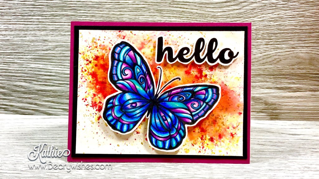 canadian stampin up demonstrator, stampin up, paper piecing, card making, card making Canada, paper crafting, paper crafting Canada, stamping up demonstrator, Kathie zaban, bearywishes, stampinkathie, stampin Kathie, Stamping, card making Canada, think of you card, amazing card, butterfly cards, flower cards, prismacolour colouring, watercolouring,