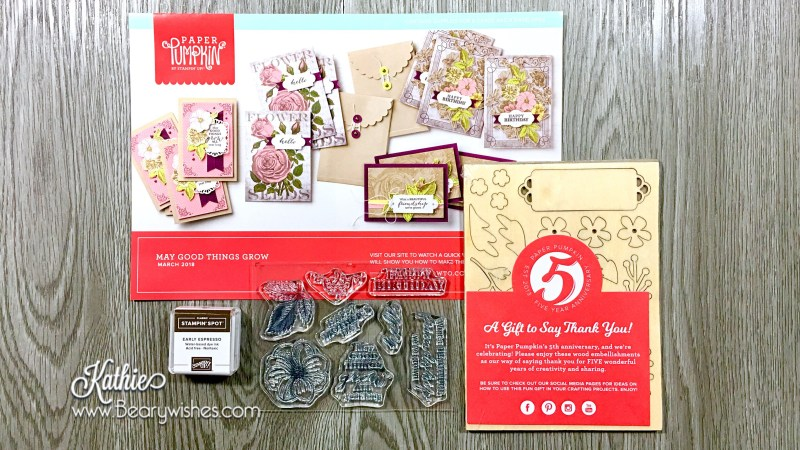 canadian stampin up demonstrator, stampin up, paper pumpkin, paper pumpkin Mar 2018, paper pumpkin March 2018, alternate paper pumpkin, paper piecing, card making, card making Canada, paper crafting, paper crafting Canada, stamping up demonstrator, Kathie zaban, bearywishes, stampinkathie, stampin Kathie, Stamping, card making Canada, March paper pumpkin, Mar alternate, March alternative, Paper Pumpkin mar 2018, Paper Pumpkin March 2018, May good things grow,