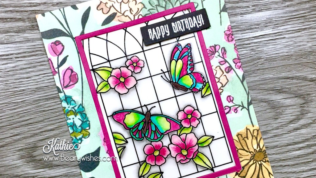 canadian stampin up demonstrator, stampin up, paper piecing, card making, card making Canada, paper crafting, paper crafting Canada, stamping up demonstrator, Kathie zaban, bearywishes, stampinkathie, stampin Kathie, Stamping, card making Canada, think of you card, amazing card, butterfly cards, flower cards, stamping' write markers, vellum,