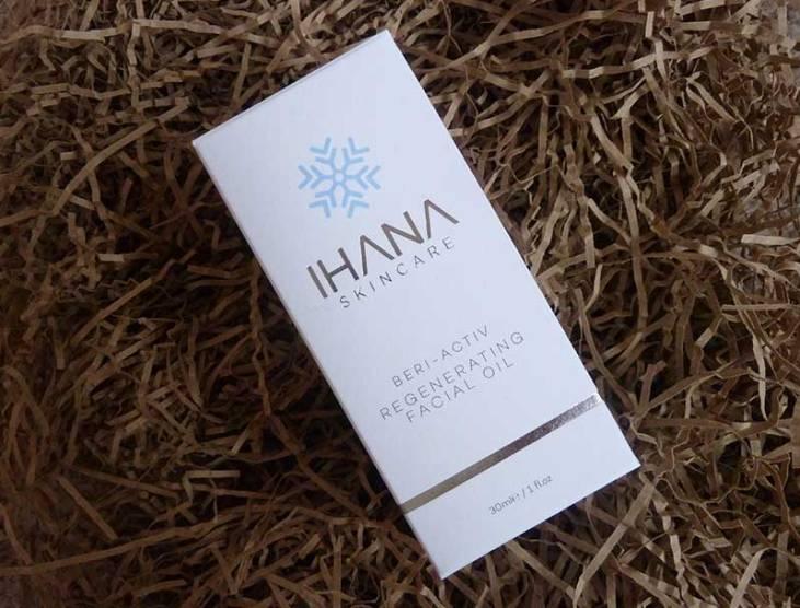 Review: Ihana Beri-Activ Regenerating Facial Oil box