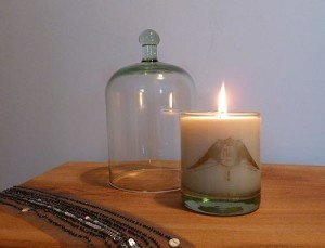 MJ London candle & clocheMJ London candle & cloche