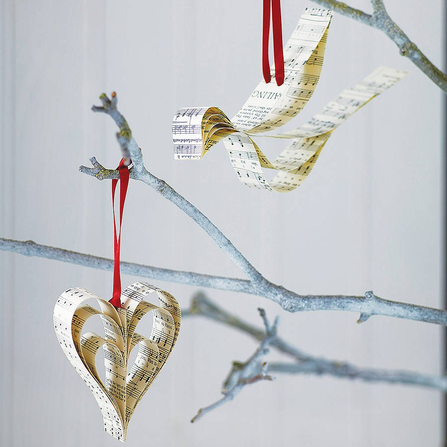 handmade vintage music christmas decoration