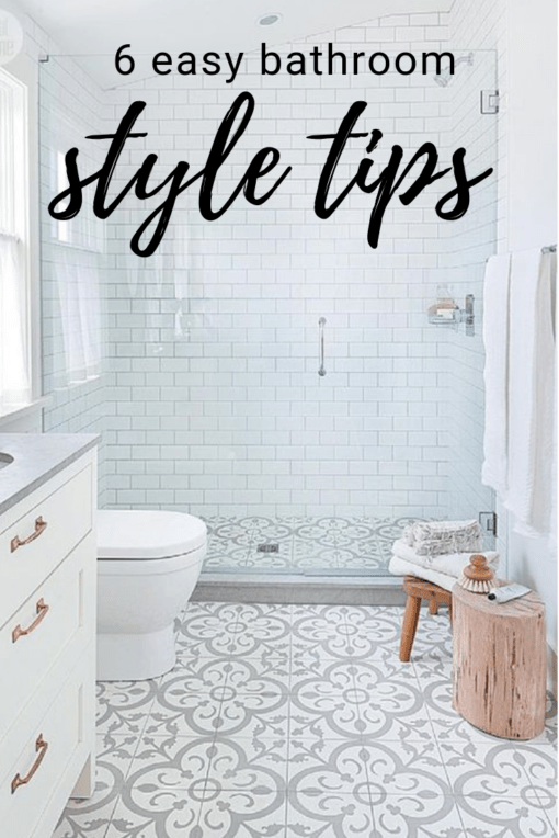 6 easy style tips when renovating a bathroom