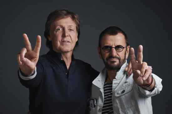 Paul McCartney and Ringo Starr, Abbey Road Studios, 14 September 2016