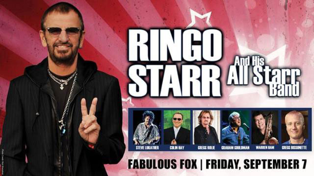Poster for Ringo Starr at the Fabulous Fox Theatre, St Louis, USA, 7 September 2018