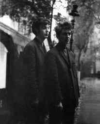 Paul McCartney and George Harrison in Hamburg, 1960