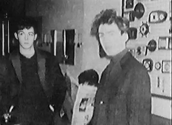 Paul McCartney and George Harrison in Hamburg, 1960