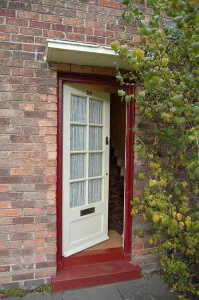Front door of 20 Forthlin Road, Liverpool