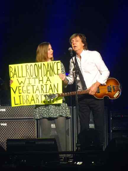 Paul McCartney and Sarah Lindenbaum, 12 September 2017